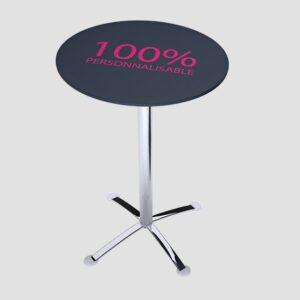 Table personnalisée modèle rond