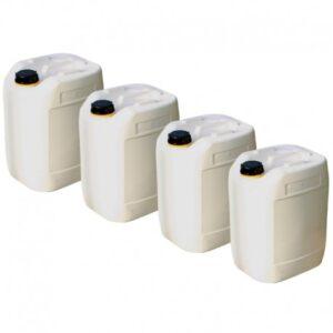 Lot de 4 bidons en plastique de 20 litres pour caisse à mât événementiel