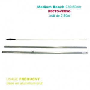 Mât medium beach 2,80M pour voile recto-verso 230×50 – Usage fréquent