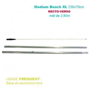 Mât medium BEACH XL 2,80M pour voile Recto-Verso 230x70CM – Usage fréquent