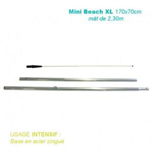 Mât Mini Beach XL 2,30M pour voile 170x70CM pour usage intensif