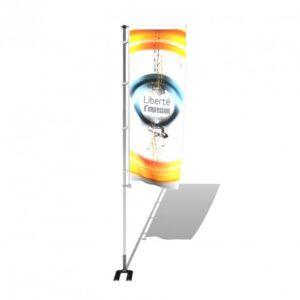 Mât mobile télescopique à potence, modèle clic-clac avec pied