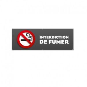 BÂCHE PVC INTERDICTION DE FUMER