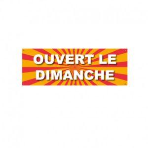 BÂCHE PVC OUVERT LE DIMANCHE