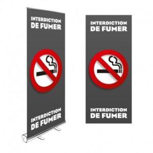 ROLL-UP INTERDICTION DE FUMER 200x85CM