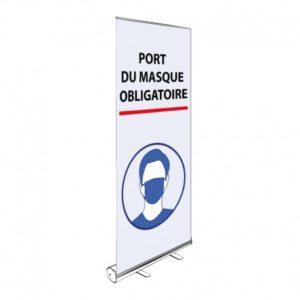 ROLL-UP PORT DU MASQUE OBLIGATOIRE 200x85CM