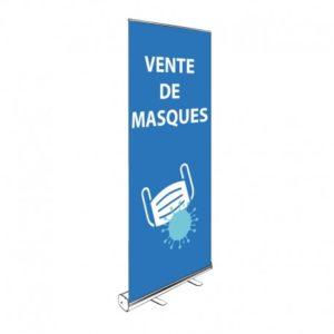 ROLL-UP VENTE DE MASQUES 200x85CM